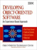 Cover image for Developing object-oriented software : an experience-based approach