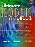 Cover image for The ultimate modem handbook : your guide to selection, installation, troubleshooting, and optimization