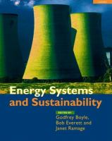 Cover image for Energy systems and sustainability