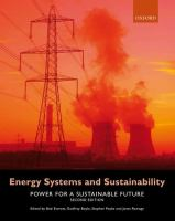 Cover image for Energy systems and sustainability : power for a sustainable future