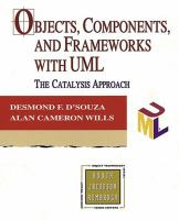 Cover image for Objects components and frame works with UML : the catalysis approach