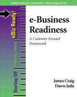 Cover image for E - business readiness :  a customer focused framework