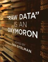 "Cover image for ""Raw data"" is an oxymoron"