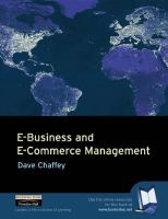 Cover image for E-business and e-commerce management : strategy, management, and applications