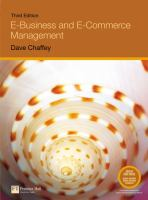 Cover image for E-business and e-commerce management : strategy, implementation, and practice