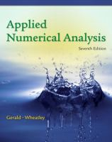 Cover image for Applied numerical analysis
