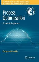 Cover image for Process optimization : a statistical approach