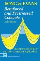 Cover image for Reinforced and prestressed concrete