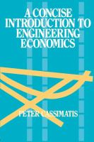 Cover image for A concise introduction to engineering economics