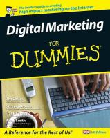 Cover image for Digital marketing for dummies
