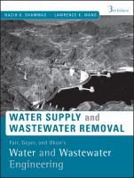 Cover image for Water and wastewater engineering : water supply and wastewater removal