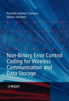 Cover image for Non-binary error control coding for wireless communication and data storage