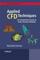 Cover image for Applied computational fluid dynamics techniques : an introduction based on finite element methods