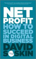 Cover image for Net profit : how to succeed the in digital business