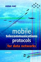 Cover image for Mobile telecommunications protocols for data networks