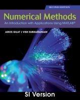 Cover image for Numerical Methods : an introduction with application using matlab