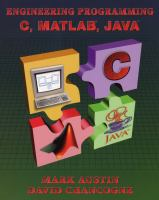 Cover image for Introduction to engineering programming : in C, Matlab and Java
