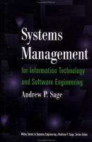Cover image for Systems management for information technology and software engineering