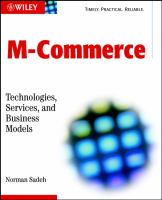 Cover image for M - commerce : technologies, services and business models