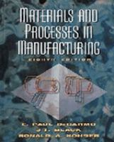 Cover image for Materials and processes in manufacturing