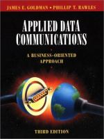 Cover image for Applied data communications: a business-oriented approach