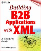 Cover image for Building B2B applications with XML : a resource guide