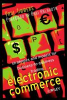 Cover image for Electronic commerce : strategies and models for business-to-business trading