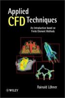 Cover image for Applied CFD techniques : an Introduction based on finite element methods