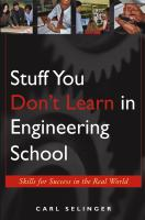 Cover image for Stuff you don't learn in engineering school :  skills for success in the real world