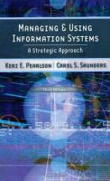Cover image for Managing and using information systems : a strategic approach