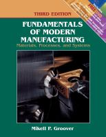 Cover image for Fundamentals of modern manufacturing : materials, processes, and systems