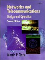 Cover image for Networks and telecommunications : design and operation