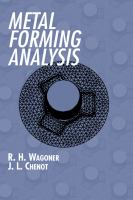 Cover image for Metal forming analysis