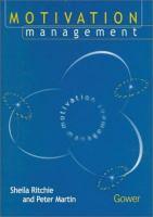 Cover image for Motivation management