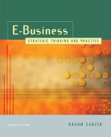 Cover image for E-business : strategic thinking and practice