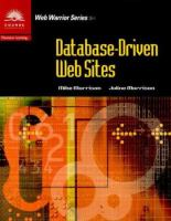 Cover image for Database-driven web sites