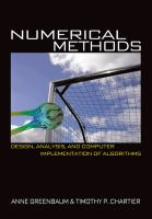 Cover image for Numerical methods : design, analysis, and computer implementation of algorithms