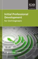 Cover image for Initial professional development for civil engineers