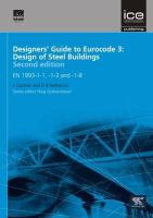 Cover image for Designers' guide to Eurocode 3 : design of steel buildings EN 1993-1-1, -1-3 and -1-8
