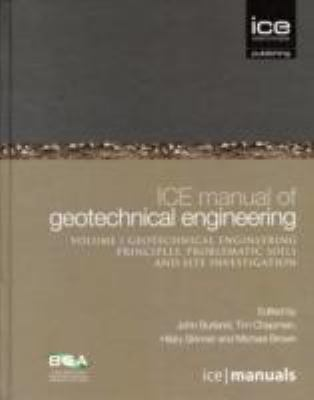 Cover image for ICE manual of geotechnical engineering