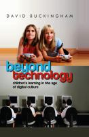 Cover image for Beyond technology : children's learning in the age of digital culture