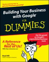 Cover image for Building your business with google for dummies