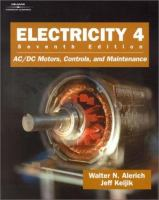Cover image for Electricity 4 :  AC/DC motors, controls, and maintenance