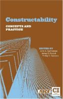 Cover image for Constructability : concepts and practice