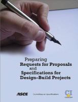 Cover image for Preparing requests for proposals and specifications for design-build projects