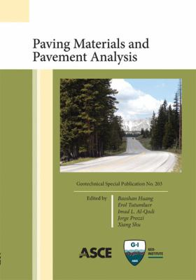 Cover image for Paving materials and pavement analysis : proceedings of sessions of GeoShanghai 2010, June 3-5, 2010, Shanghai, China