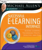 Cover image for Successful e-learning interface : making learning technology polite, effective, and fun
