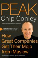 Cover image for Peak : how great companies get their mojo from Maslow