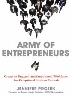 Cover image for Army of entrepreneurs : create an engaged and empowered workforce for exceptional business growth