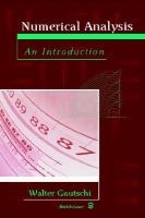 Cover image for Numerical analysis : an introduction